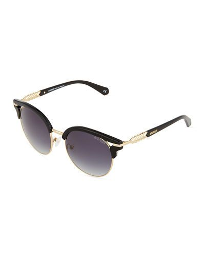 17cd2d71e BALMAIN Two-Tone Round Sunglasses, Blacklight Gold. #balmain ...