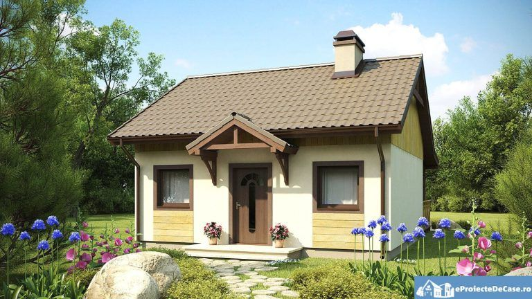 Proiecte Case Mici Eproiectedecase Con Proiecte Case Mici Cu Mansarda E Proiect De Casa Mica Par Small Cottage Designs Bungalow House Design House Floor Design