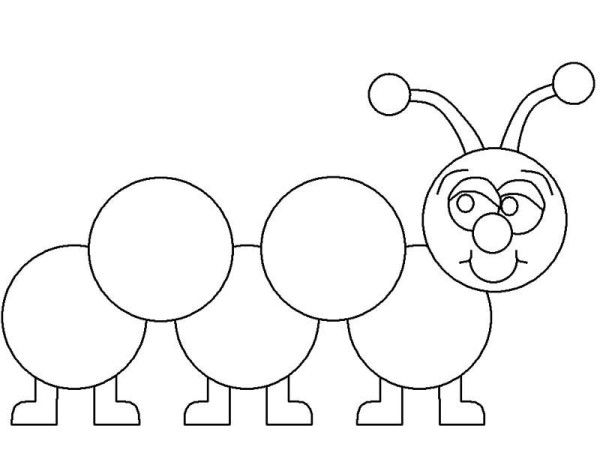 Caterpillars Learn How To Draw A Caterpillar Coloring Page