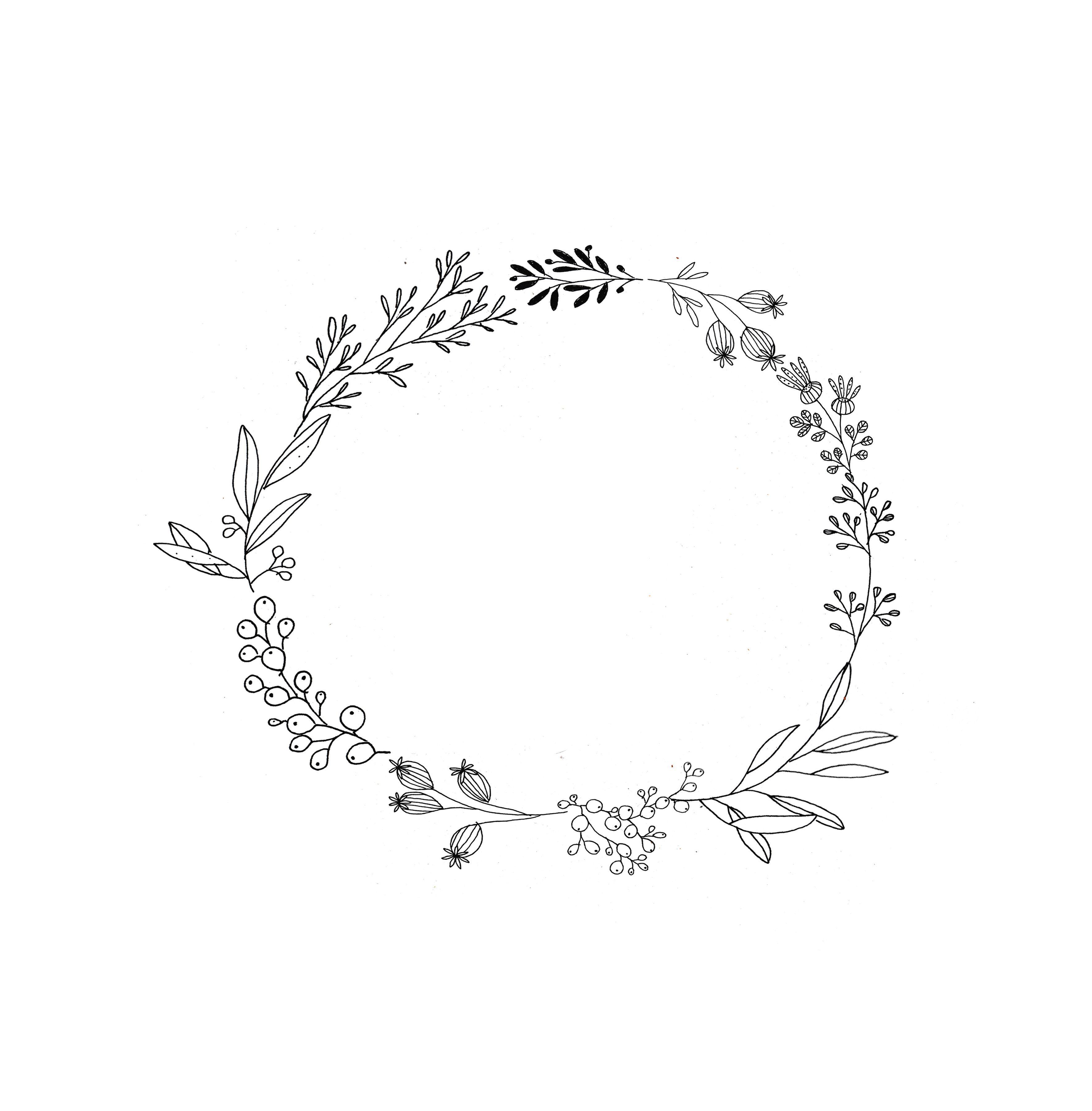 48+ Half flower wreath clipart ideas