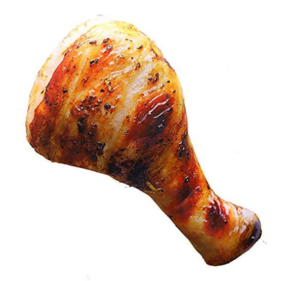 3d simulation fried chicken leg pillow