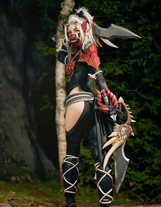 cute monster hunter female armor