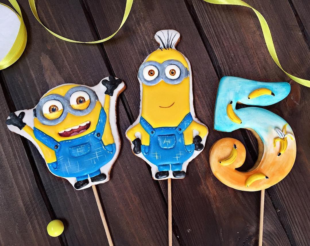 Nu Chto Vsem Na Zavtrak Po Banana Dlya Zakaza Pryanikov 8952 856 56 36 Zak Cupcake Cookies Despicable Me Cake Minions