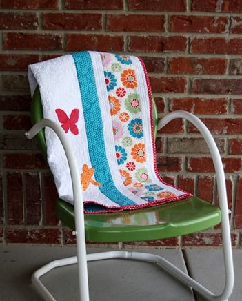 Flutter and Flowers Quilt