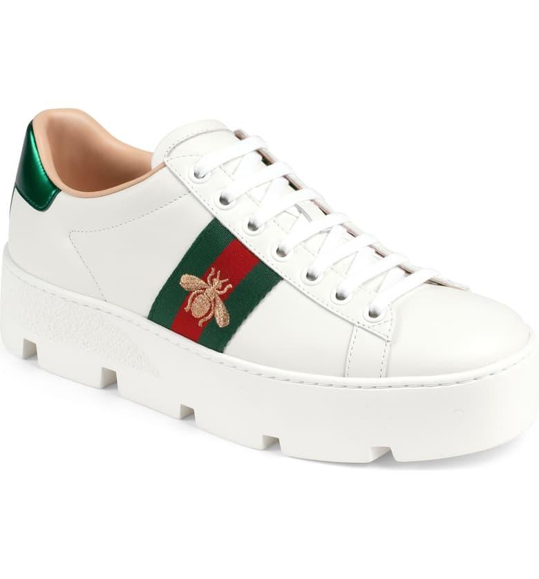 Gucci New Ace Platform Sneaker (Women