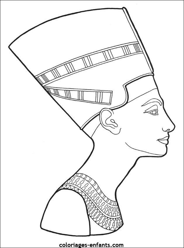 coloriage egypte | Scarification | Pinterest | Egipto, Colorear y ...