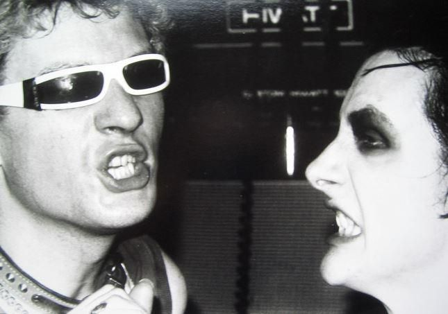 Captain Sensible and Dave Vanian of the Damned live at the Roxy, Feb 1977