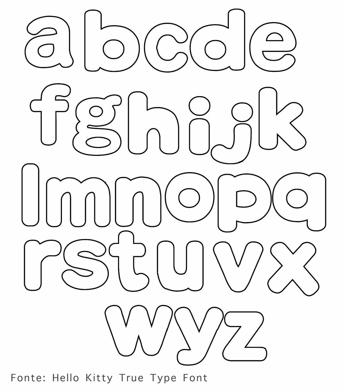 Ei Menina!: Moldes | letras | Pinterest | Letras, Alfabeto para ...