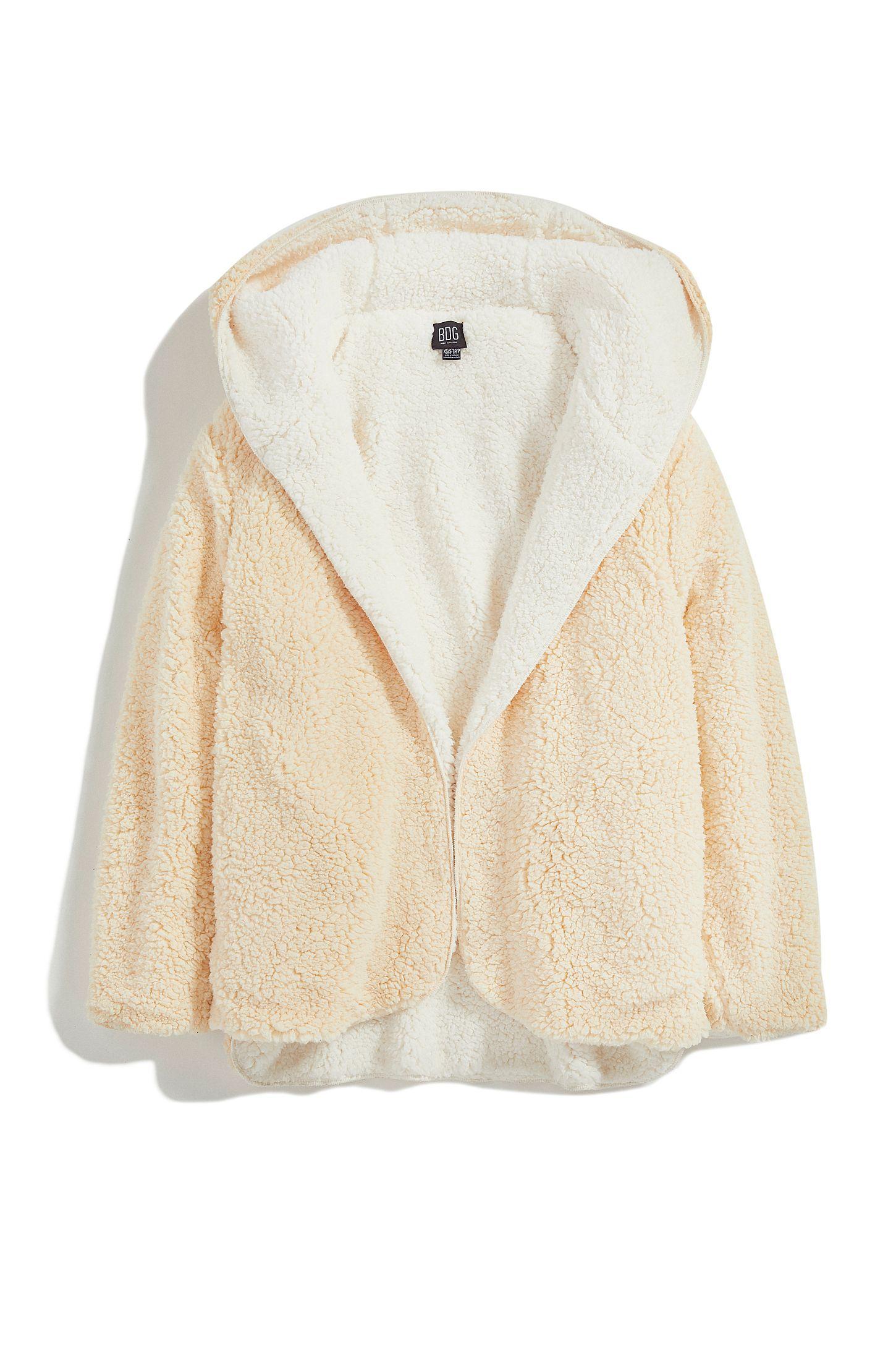 Bdg Carmella Reversible Hooded Teddy Jacket Urban Outfitters Teddy Jacket Jackets Urban Outfitters Jacket [ 2175 x 1450 Pixel ]