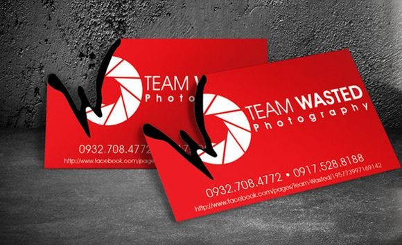 Team Wasted Photography Business Card Visitenkarte Creative