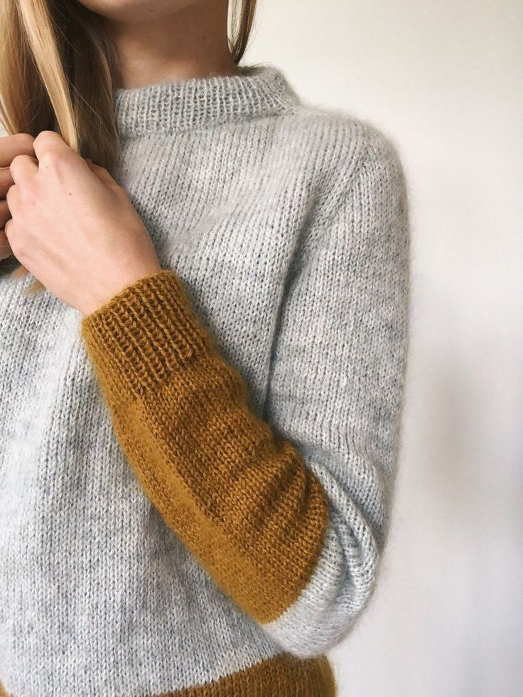 Contrast Sweater in 2020 Sweater pattern, How to purl