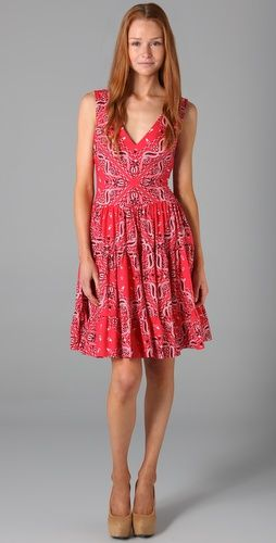 41e306fa9 Bandana dress! A little longer and it would have some serious swirl!