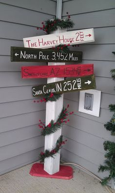 Christmas Sign Decorations Front Porch Decorationlove How It Turned Out  Holiday Ideals