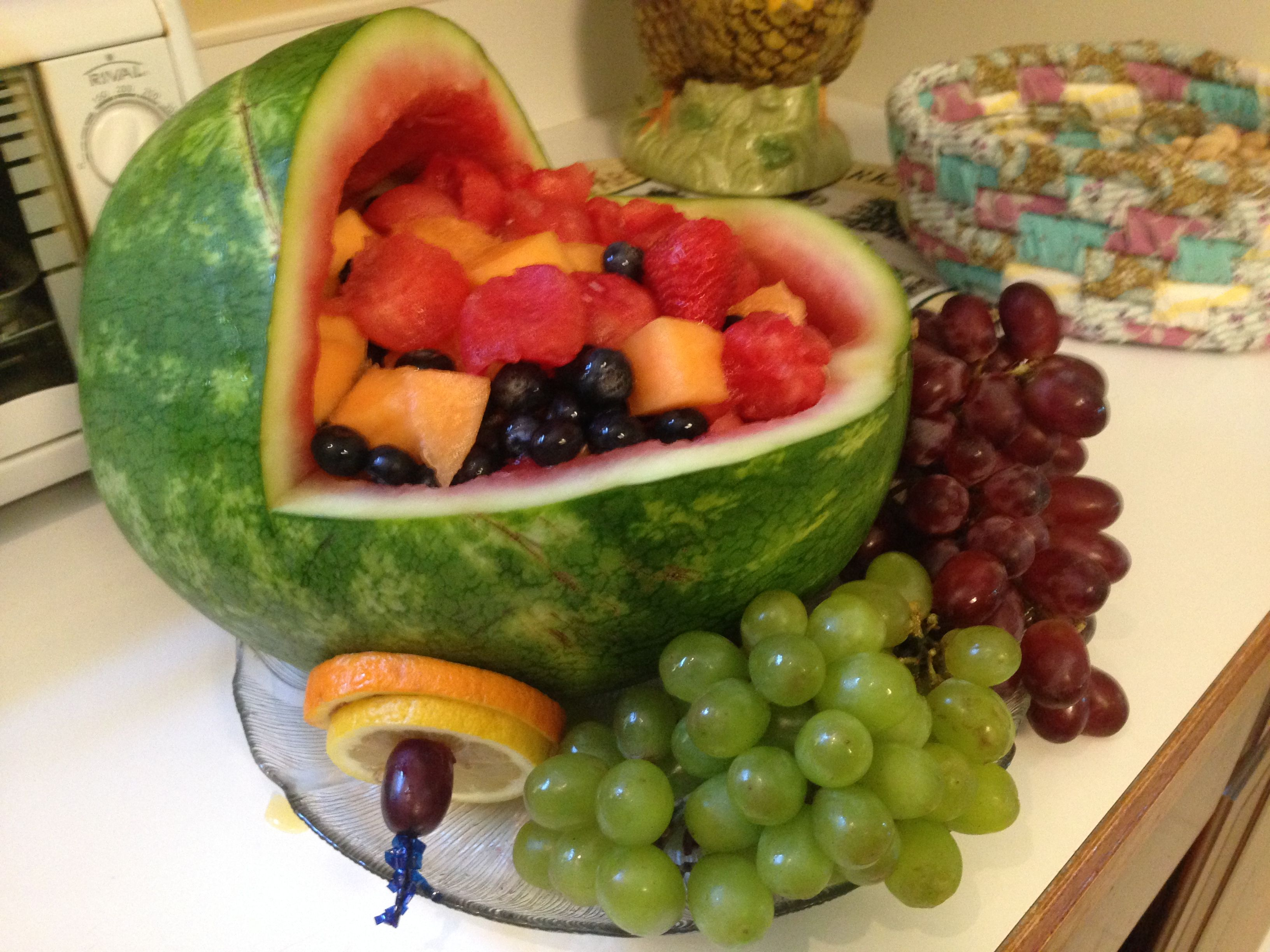 Watermelon Baby Buggy Fruit Bowl created by Becky Baxa May 206 ...
