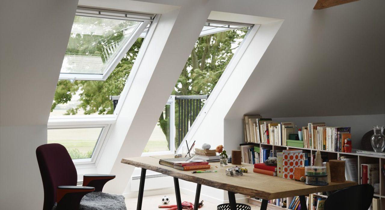 home office mit dachfenster ideen bilder, ideen für das arbeitszimmer – mit velux dachfenstern | office, Design ideen
