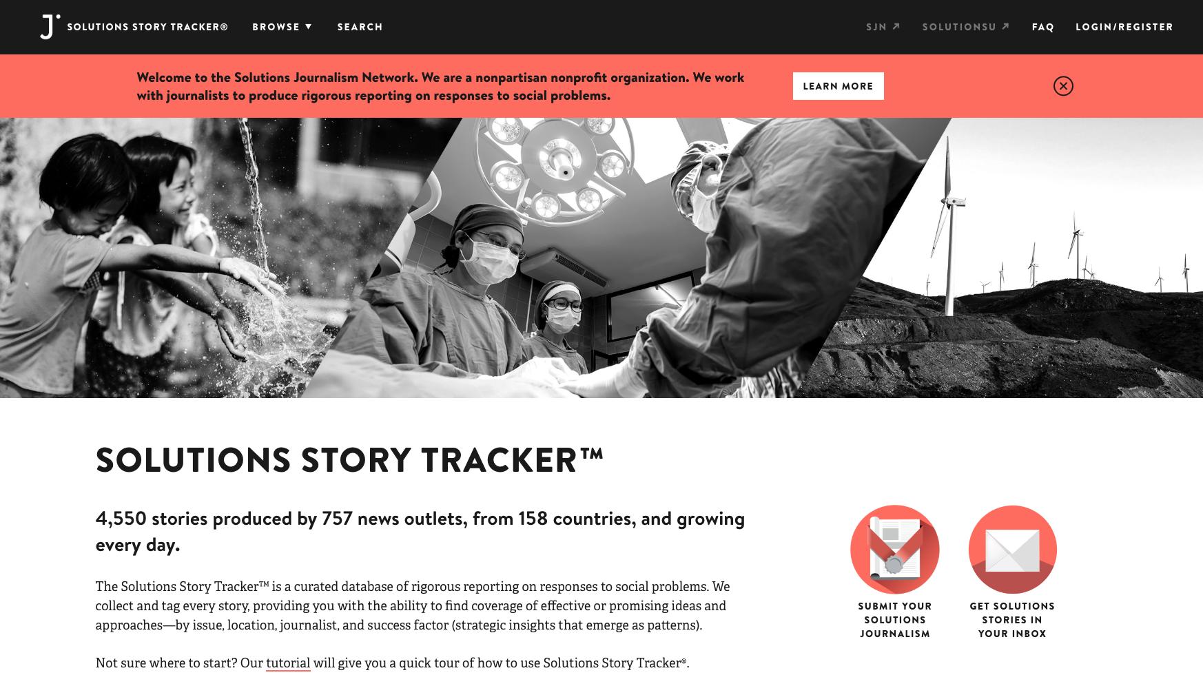 SJ Story Tracker Homepage Nonprofit WASH visuals Pinterest