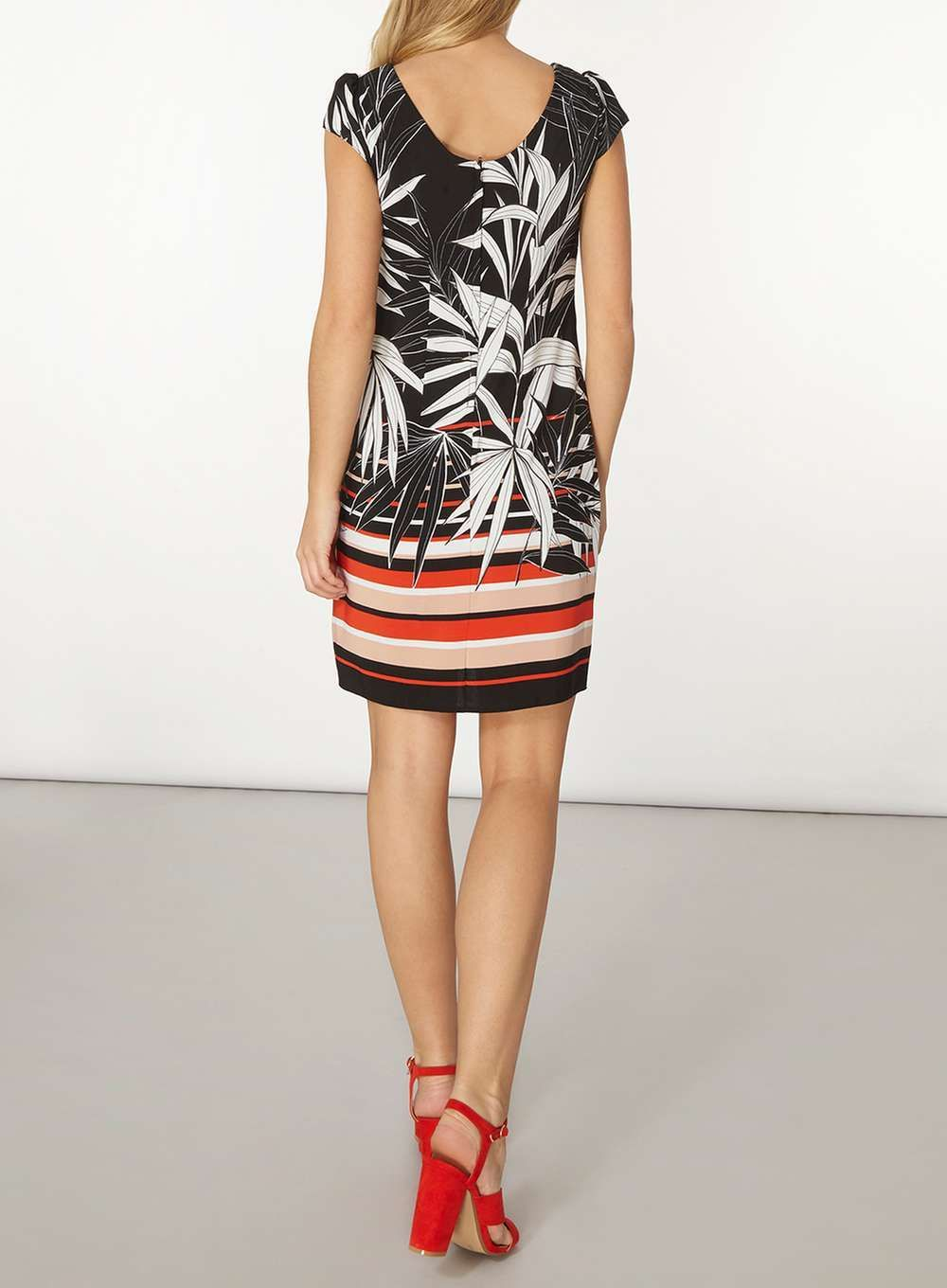 Womens **Billie and Blossom Floral Tropical Shift Dress- Multi Colour