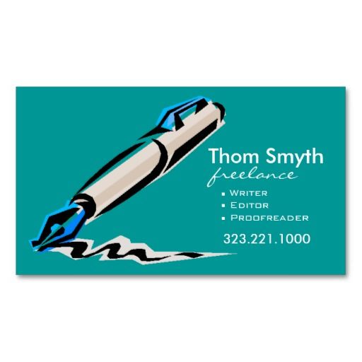 Writer Editor 4 Stylish Creative Business Cards Zazzle Com Business Cards Creative Freelance Business Card Business Cards Creative Templates
