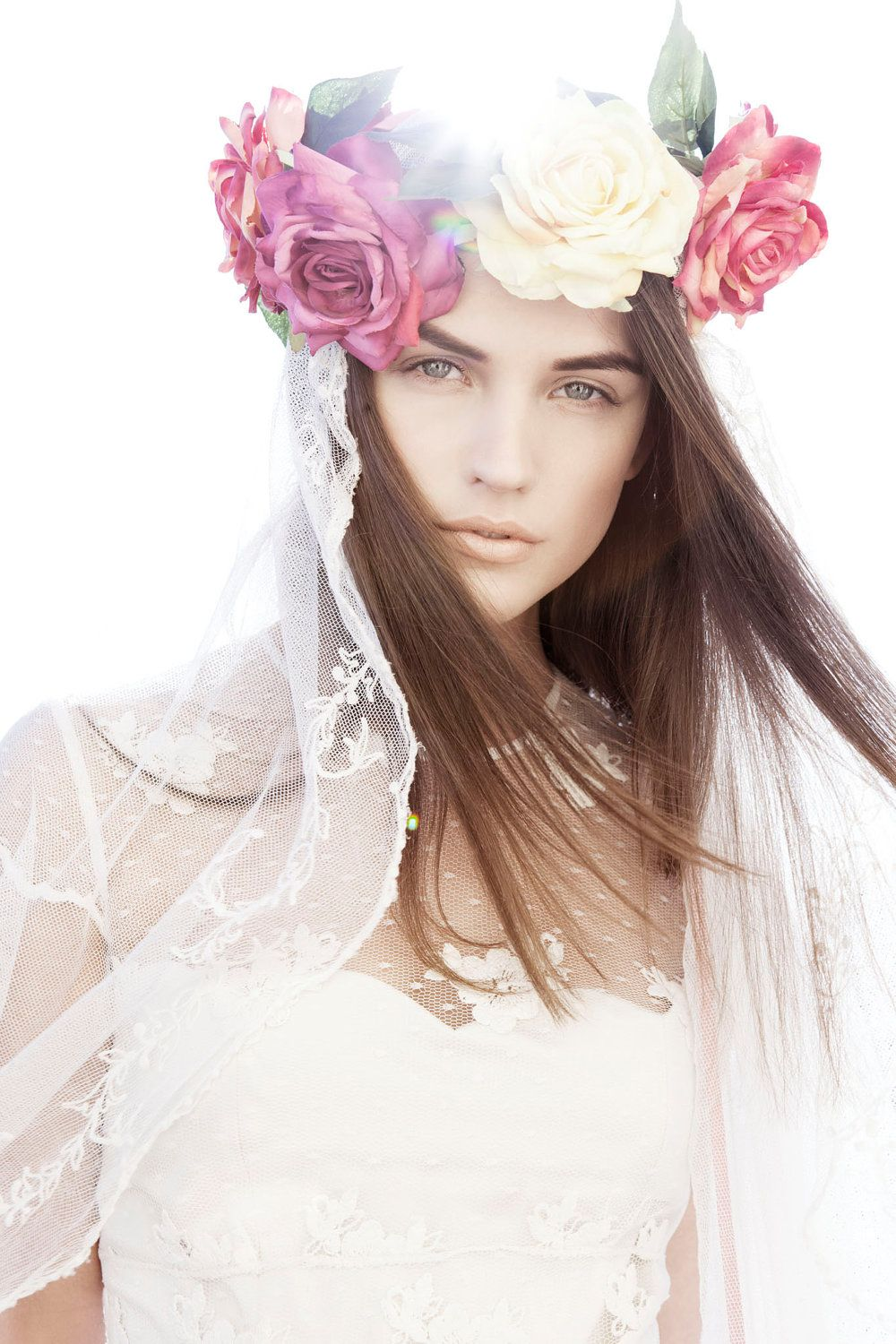 Flower Crown Hairstyle Hairdo Romantic Natural Fairy Flower