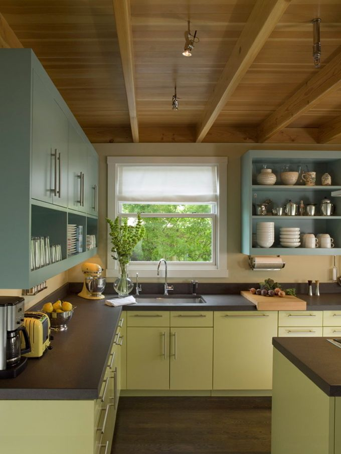 Benjamin Moore Stratton Blue HC 142 For The Upper Cabinets And