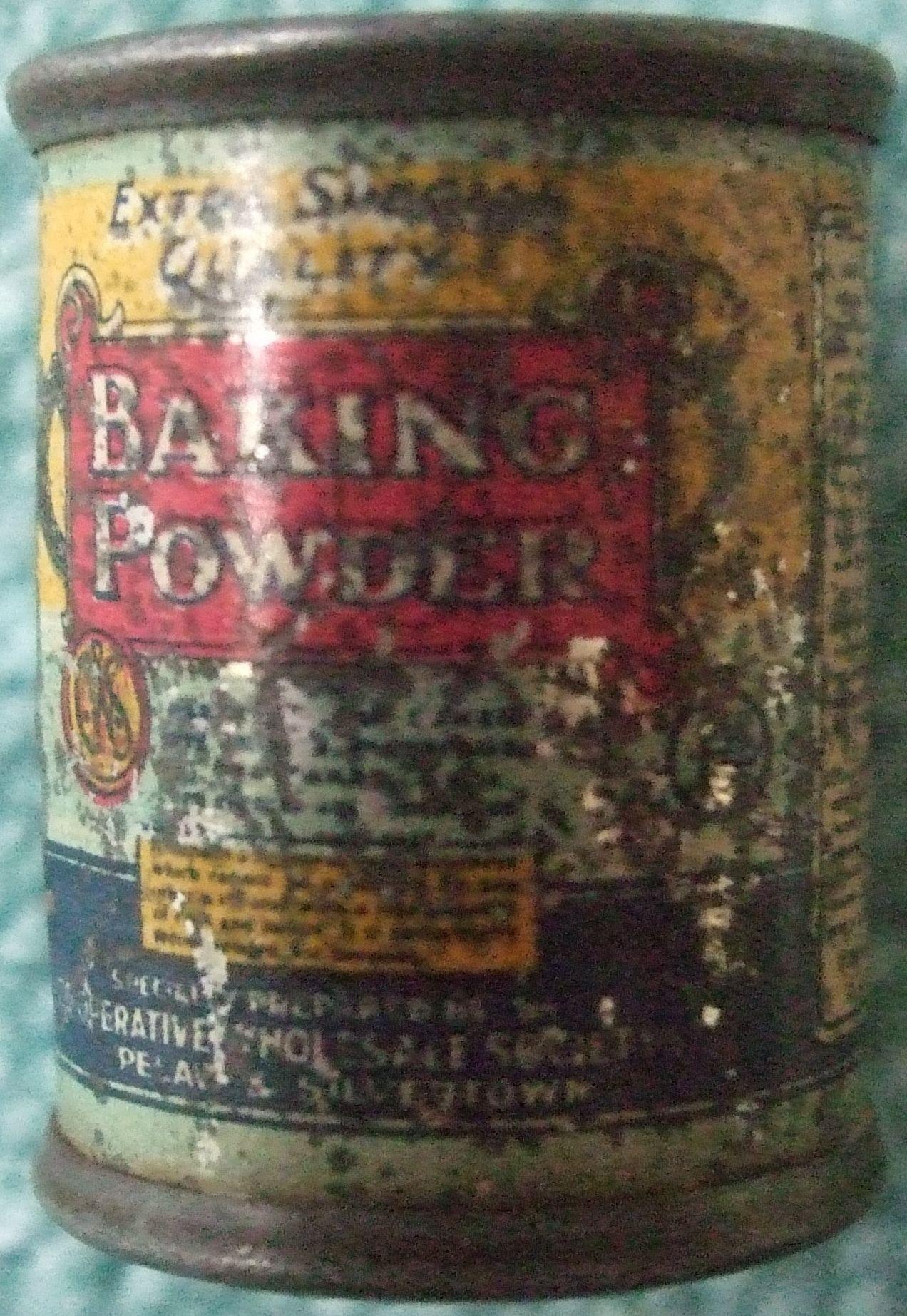 CWS Baking Powder pencil sharpener Poor condition sorry CWS