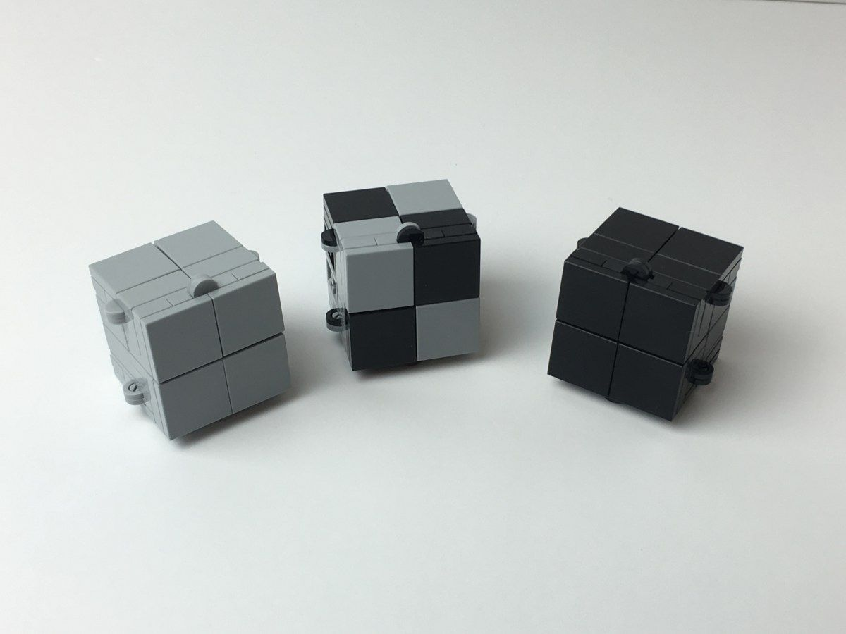 Instructions And Parts List For A Magic Folding Infinity Fidget Cube