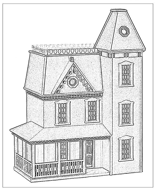 dollhouse | Coloring pages, Coloring book pages, House colouring pages | 795x650