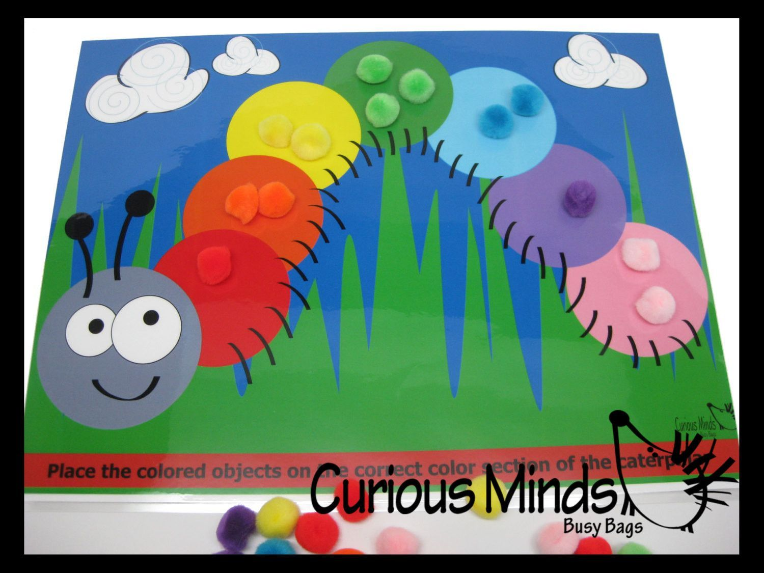 PDF DOWNLOAD - You Print- Color Sort Caterpillar Activity Page ...