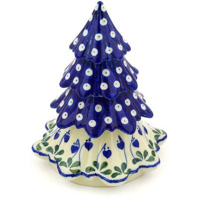 Polish Pottery Christmas Tree 7 Bleeding Heart Peacock Polish Pottery Pottery Polish Pottery Boleslawiec
