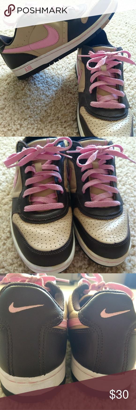 NIKE pink/brown running sneaker size 9