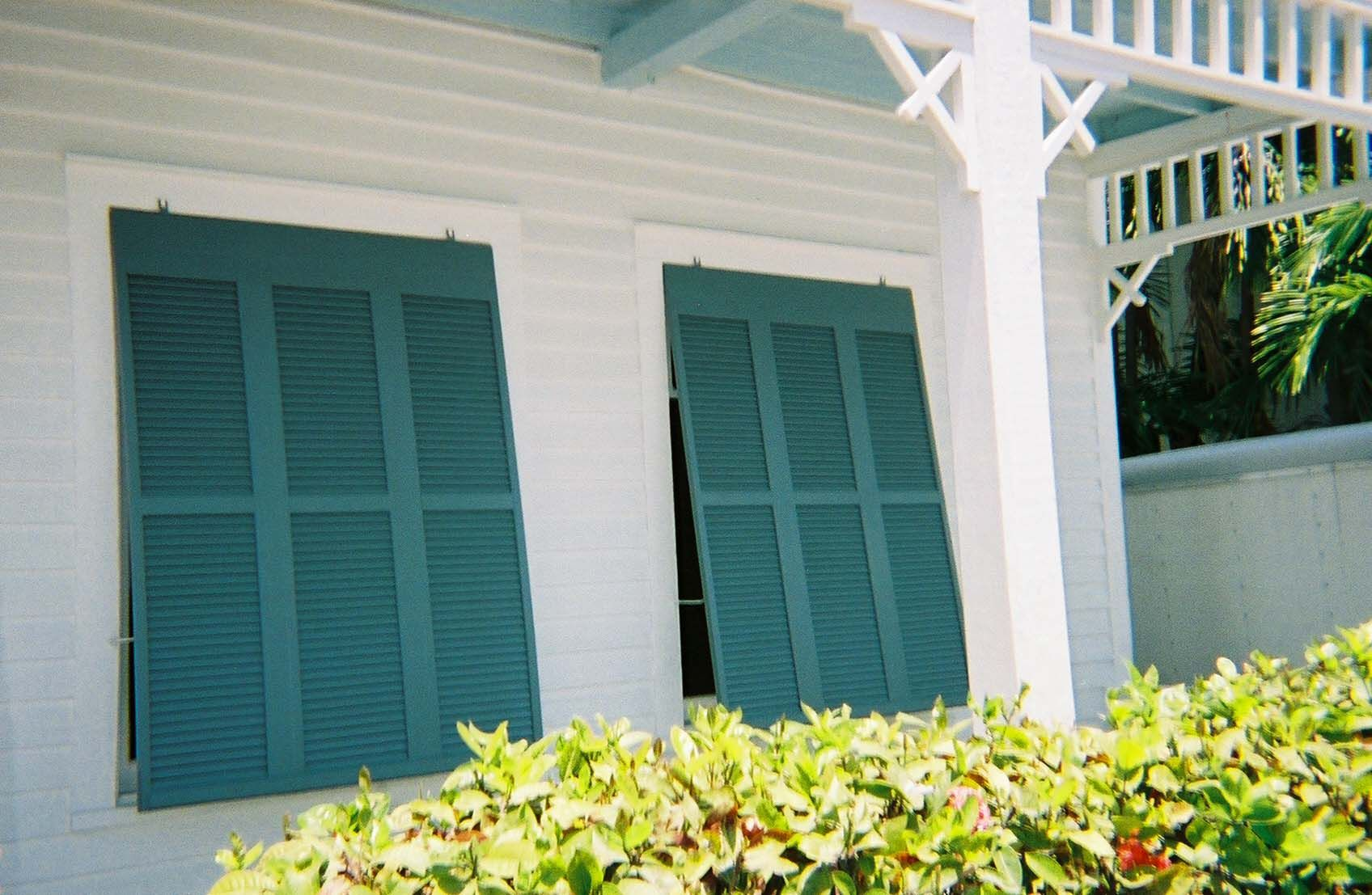 Inspiring Windows Ideas With Bahama Shutters Inspiring Exterior Design With Green Bahama