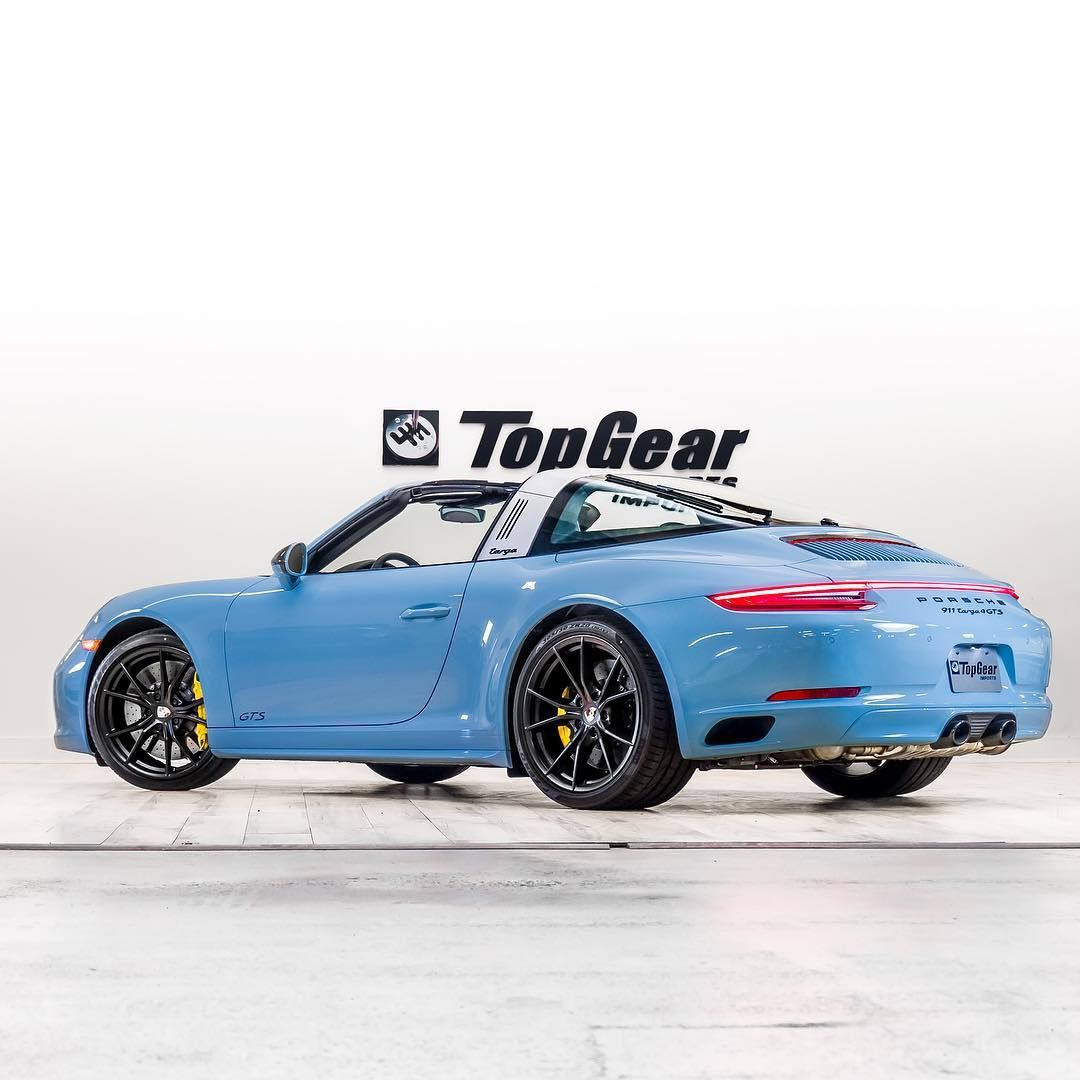 Welcome To Our Gulf Blue Family 2018 Porsche Gts 4 Targa With 7 Speed Manual In Paint To Sample Gulf Blue Joins The Family Porsche Gts Porsche Porsche 911