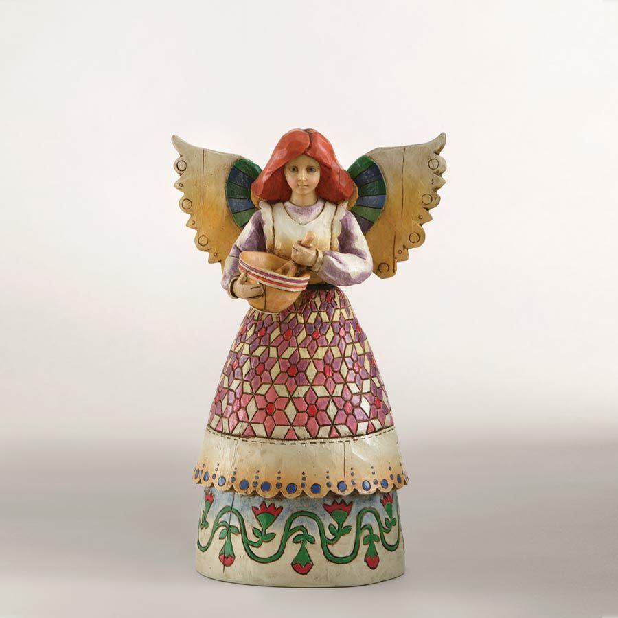 Figura angel ANGEL OF CONTENTMENT de Jim Shore. See more at http://www.lacasadelocio.es/