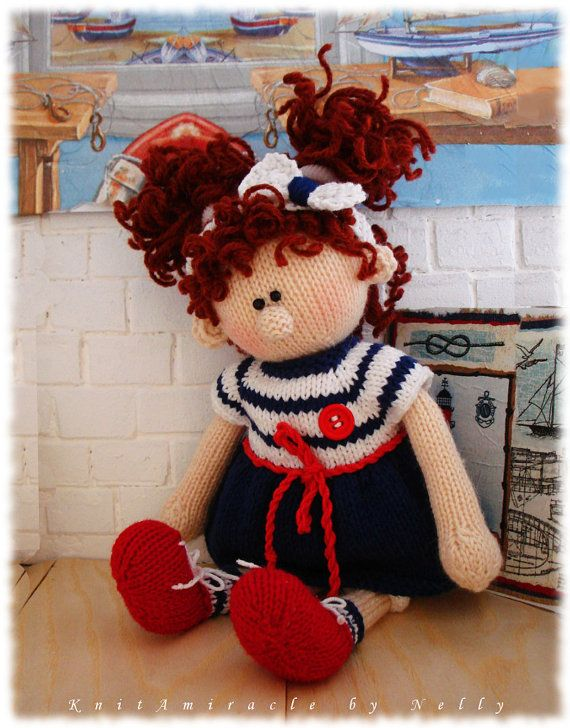 Photo of Knitting pattern doll Knitted girl making Cute Soft doll pattern in Sea style.  Alice – Emil's Girlfriend