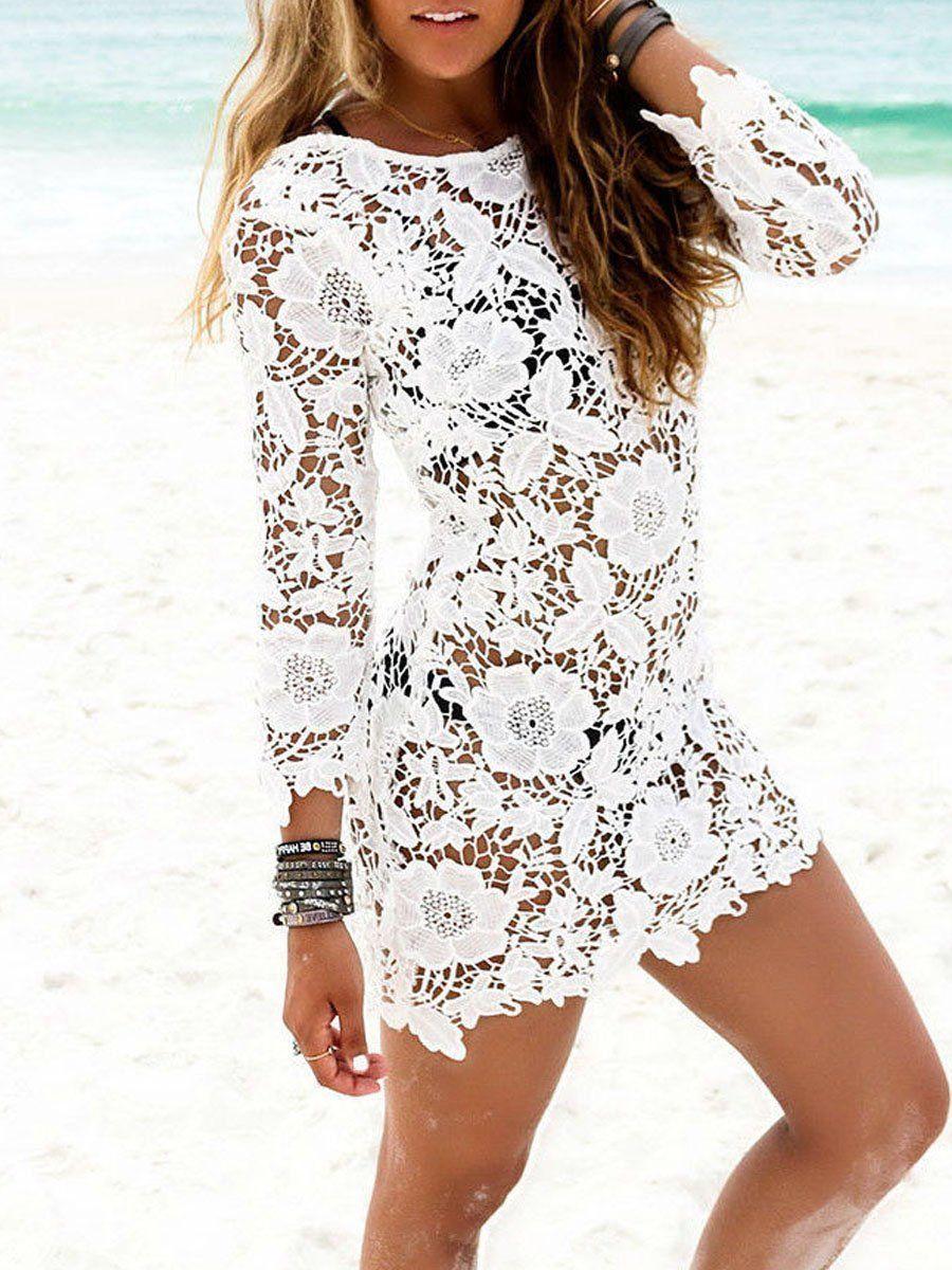 Other Products Lace Beach Dress Crochet Beach Dress Lace White Dress