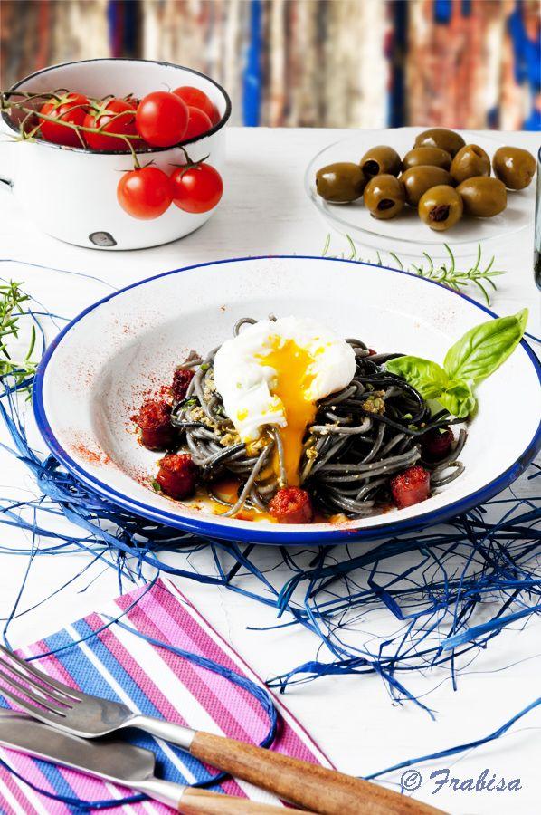 La cocina de Frabisa: Huevos POCHÉ con chistorra | Arroz, Rice ...
