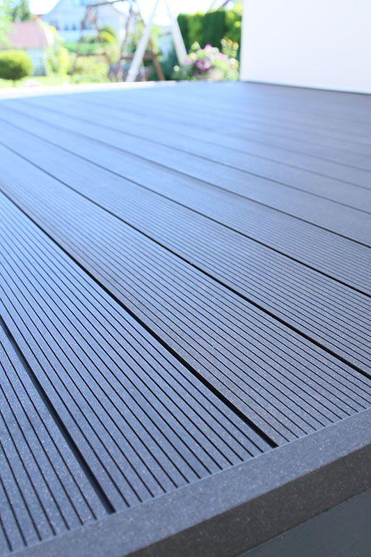 Photo of wpc-terrasse in dunkelgrau anthrazit – mehr auf www.planeo.de #terrace #terrasse – schön pins