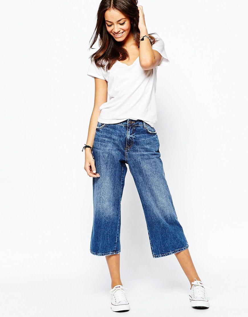 d8034653fd New Look Wide Leg Crop Jean | Outfit Primavera/Estate | Cropped ...