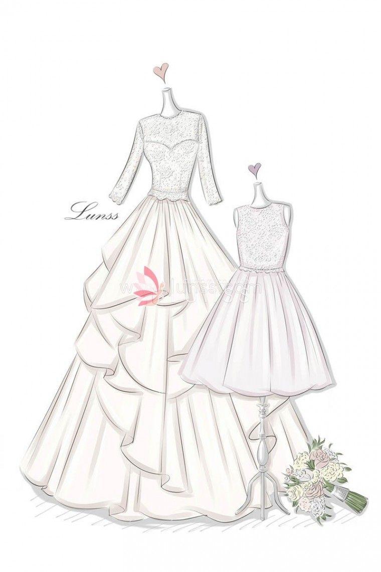 Elegant Drawing Dresses