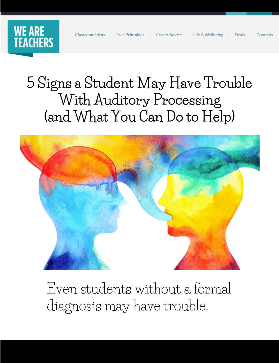 5 Signs a Student May Have Trouble With Auditory ...
