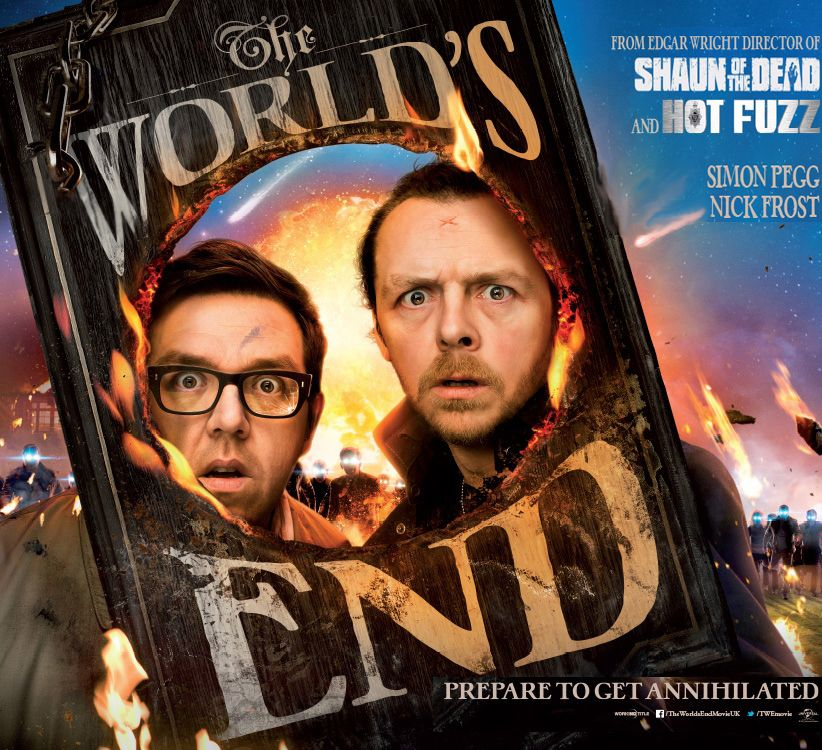The World's End, starring Simon Pegg and Nick Frost.  soon.