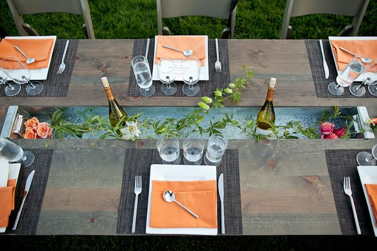Trough Table With Wine Sonoma Valley Weddings