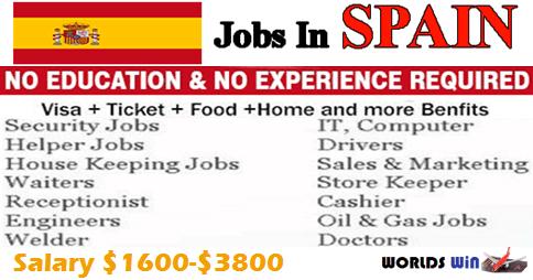 Multiple Job Vacancies Open In Spain Helper Jobs Job Spain