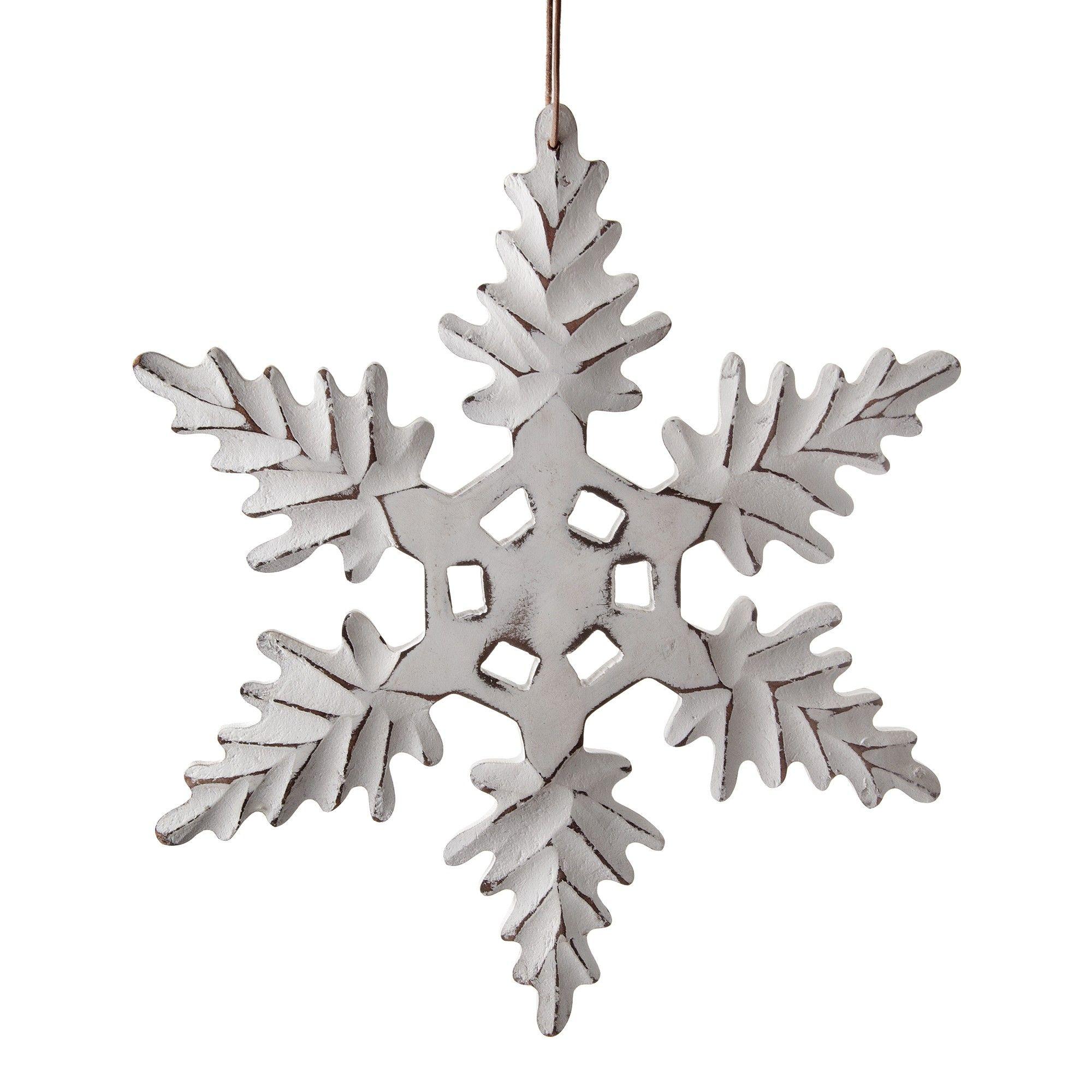 Wooden Ornament White Snowflake Christmas Decoration 12 99 Wooden Snowflakes Christmas Decorations Christmas Settings