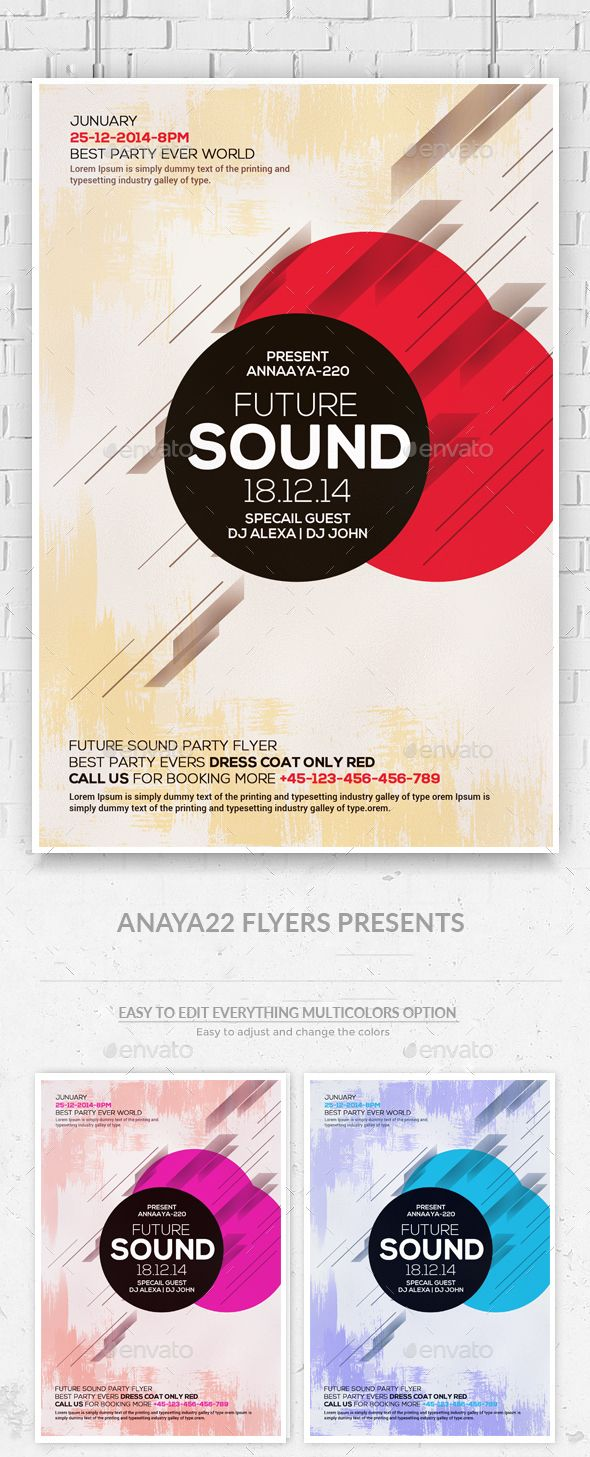 Minimal Abstract Flyer Template Psd Design Download Http