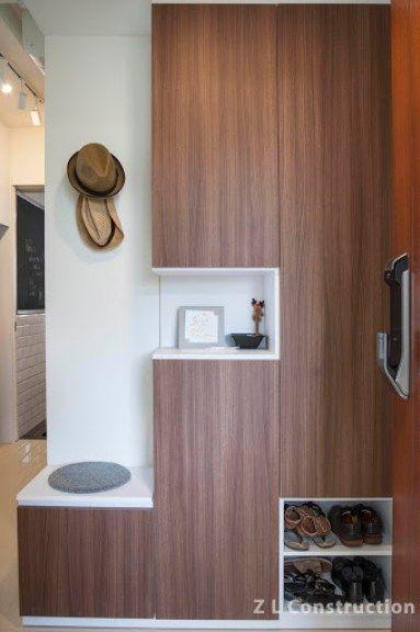 Park Green Condominium Foyer Design Shoe Room Shoe Cabinet Design