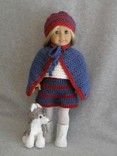 Cape Skirt Outfit Crocheting Pattern For 18 Inch Dolls Crafts