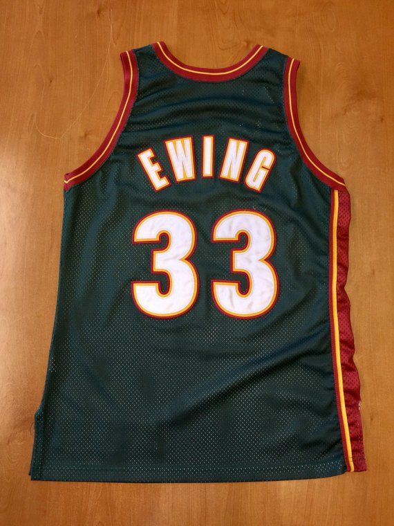 promo code 842ef 667eb Vintage 1990s Patrick Ewing Seattle Supersonics Authentic ...