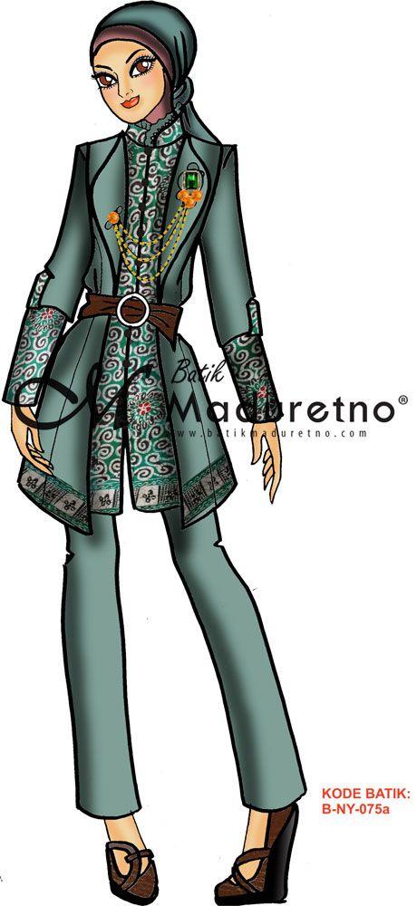 Visit Our Website Batikmaduretno Com Sketsa Desain Busana Kerja
