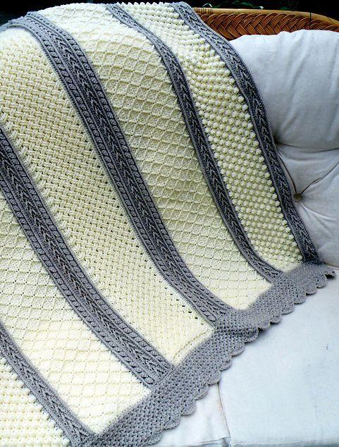 6 Stitches Crochet Aran Throw - Free Pattern | Pinterest